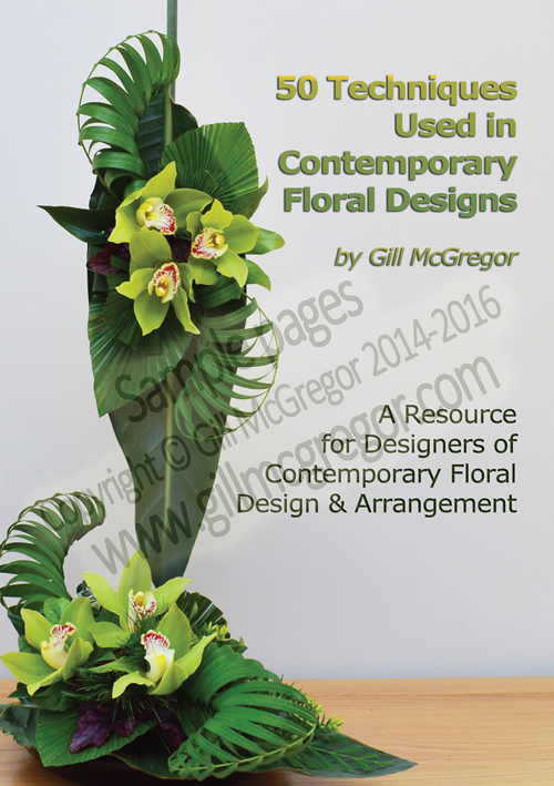 Flower Arranging Books - 50 Techniques Used in Contemporary Floral Designs - by Gill McGregor