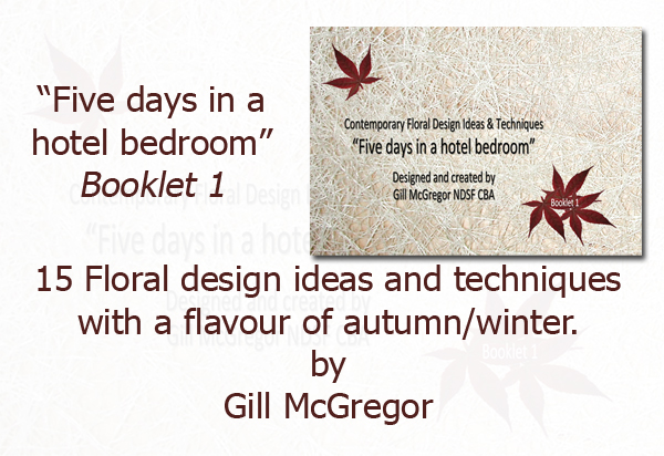 Flower Arranging Books by Gill McGregor 'Five days in a hotel bedroom'