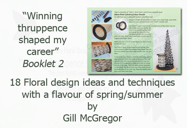 Flower Arranging Books by Gill McGregor 'Winning thruppence shaped my career'
