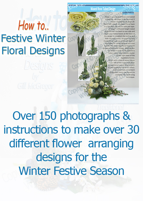 Flower Arranging Books by Gill McGregor'Festive Winter Floral Designs'