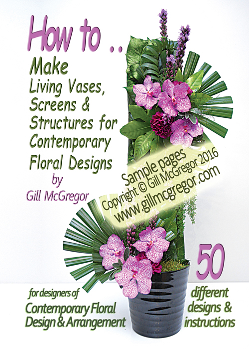 Flower Arranging Books 'Living Vases, Screens and Structures' - by Gill McGregor