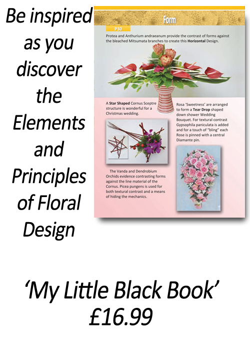 Flower Arranging Books - My Little Black Book - 'How to Apply the Elements and Principles of Floral Design' - by Gill McGregor