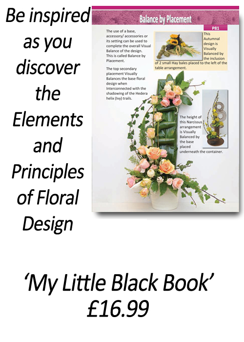How to design with flowers - Flower Arranging Books - 'How to Apply the Elements and Principles of Floral Design' - by Gill McGregor