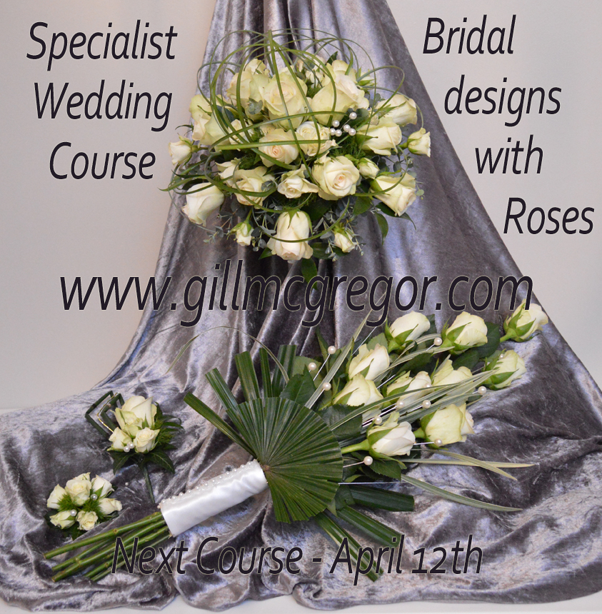 One Day  Specialist Wedding Course - Bridal designs with Roses