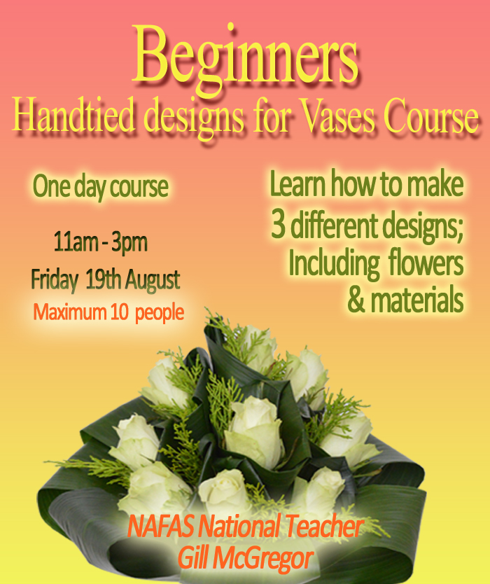 Gill McGregor Teaching Specialist Hand Tied Flower Arrangements for Vases